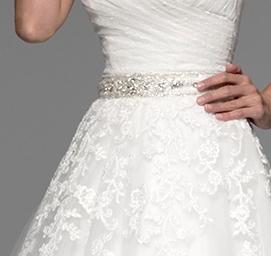 Cinturilla de novia de pedrería modelo 8488 de Innovias para coser en vestidos de novia