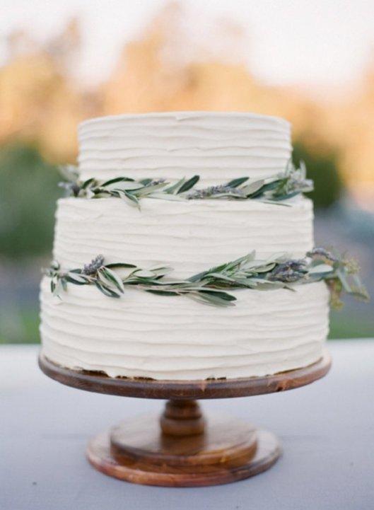 Tarta de boda con olivo. Foto: Diana McGregor
