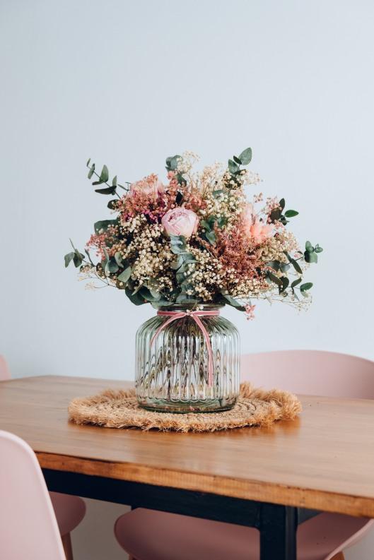 Ramo de novia de flores preservadas de Flores en el Columpio