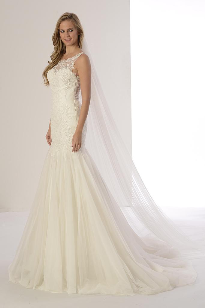 Vestido de novia barato en venta a precios directos de fábrica modelo Pandora de Innovias