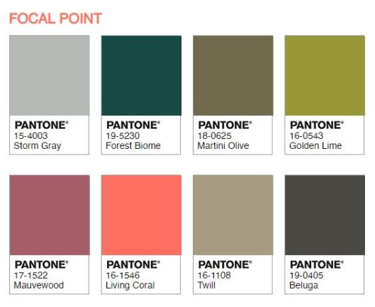 Paleta Focal Point de Pantone