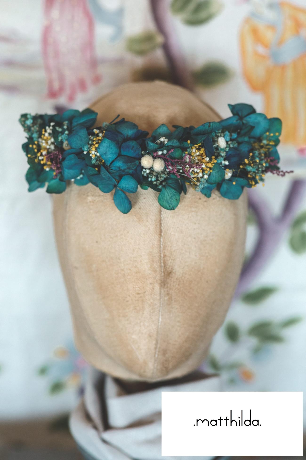 Corona de flores preservadas de Innovias