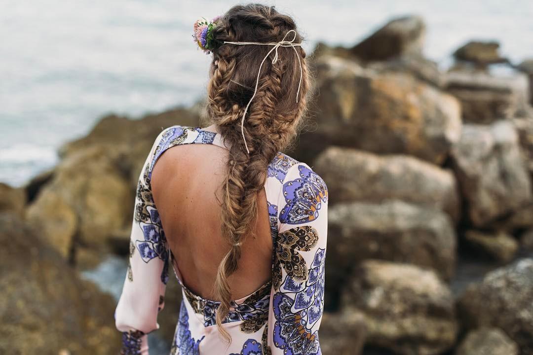 Peinado con trenzas de Marla Belleza. Foto: All Lovely Party