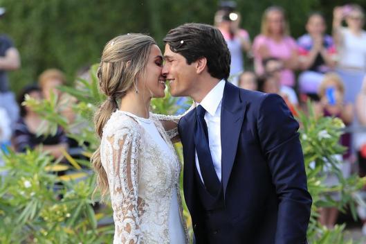 María Pombo y Pablo Castellano recién casados. Foto: Famosos Love