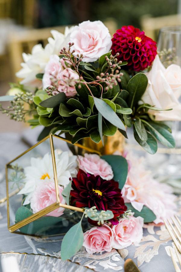 Flores en una boda. Foto: Caroline Lima Photography