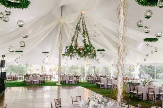 Zona de baile en la boda. Foto: Emily Wren Photography