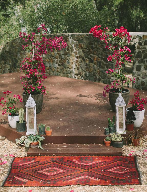 Altar de boda marroquí. Foto: Laura Goldenberger