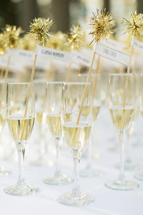 Champán para el brindis de la boda. Foto: Millay Young Photography