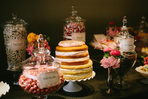 Candy bar en una boda. Foto: Pen/Carlson