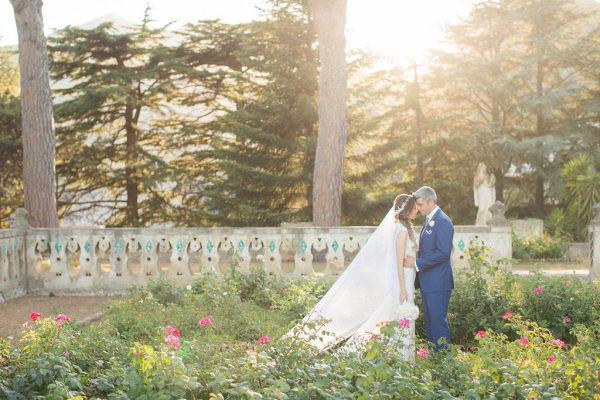 Novios recién casados. Foto: Sandra Aberg Photography