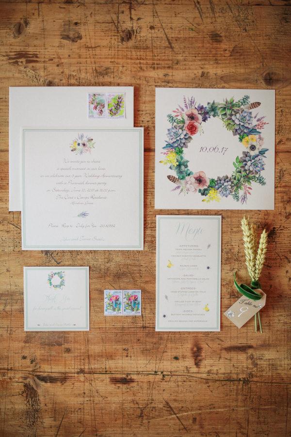Invitaciones de boda. Foto: Sotiris Tsakanikas